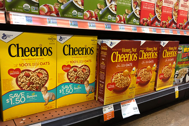 General Mills Inc's Cheerios and Honey Nut Cheerios