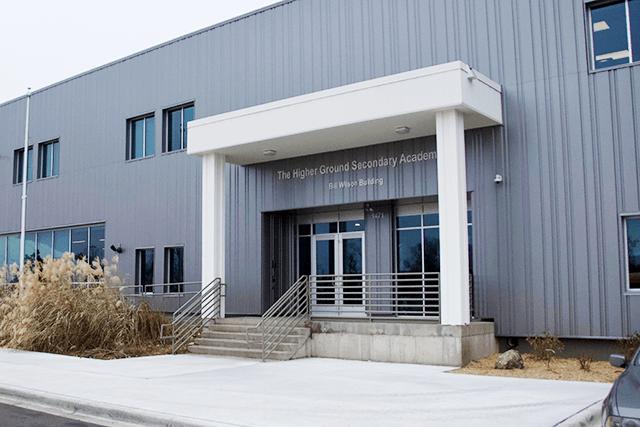 photo of higher ground academy school building