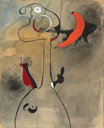 Joan Miró , Femme devant la lune (Woman in Front of the Moon), 1935