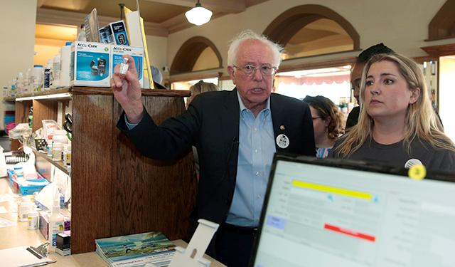 Sen. Bernie Sanders, Quinn Nystrom