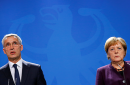 NATO Secretary-General Jens Stoltenberg and German Chancellor Angela Merkel