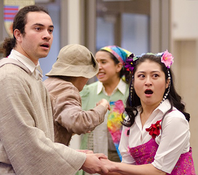 """Christopher Jenkins and Stephanie Bertumen in """"The Winter's Tale."""""""