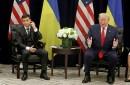 Ukraine's President Volodymyr Zelenskiy, President Donald Trump