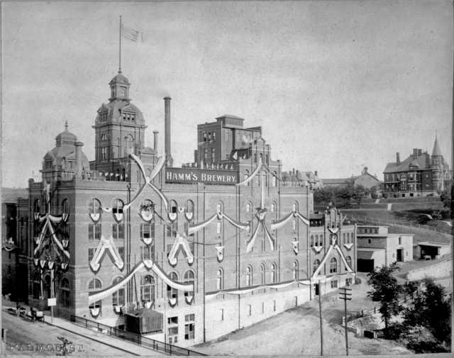 historic photo of hamms brewery