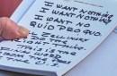 photo of handwritten notes