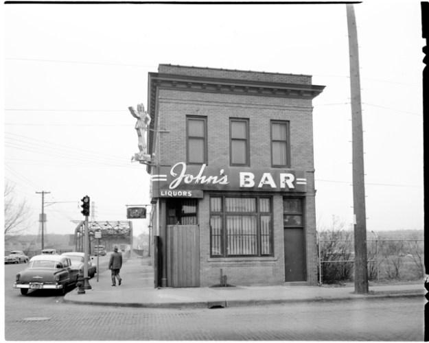 historical photo of johns bar