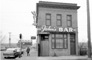 historical photo of john's bar