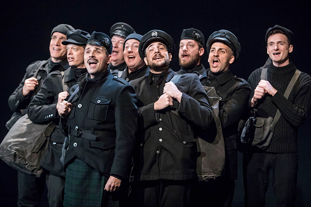 """The cast of Theater Latté Da's production of """"All Is Calm: The Christmas Truce of 1914."""""""