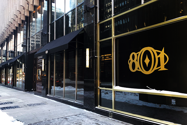 """The opaque """"windows"""" of the new 801 Chophouse on Nicollet Mall."""