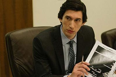 "Adam Driver as Daniel J. Jones in a scene from ""The Report."""