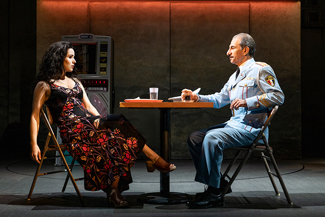 """Chilina Kennedy and Sasson Gabay in """"The Band's Visit."""""""