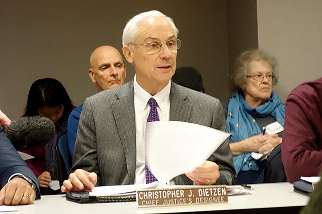 Former Justice Christopher Dietzen, said Thursday he thinks probation reform is needed.