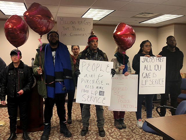 Members of Reclaim the Block interrupted a Friday afternoon news conference hosted by the mayor and council to explain their rationale for the amendments.