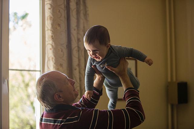 Grandpa, grandchild