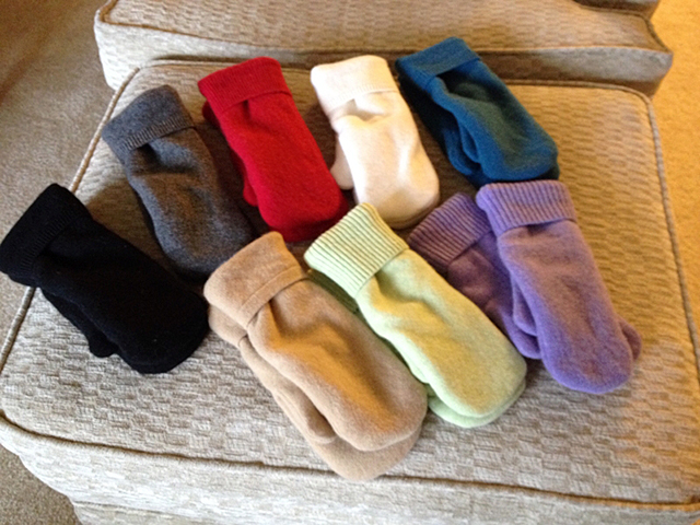Handmade mittens by Diane Beutz featured at the 27th Annual Women's Art Festival.