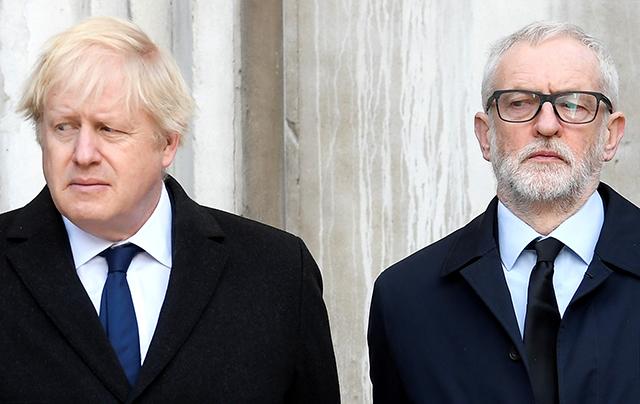 Prime Minister Boris Johnson and Labour Party leader Jeremy Corbyn