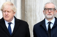 Prime Minister Boris Johnson and Labour Party leader Jeremy Corbyn