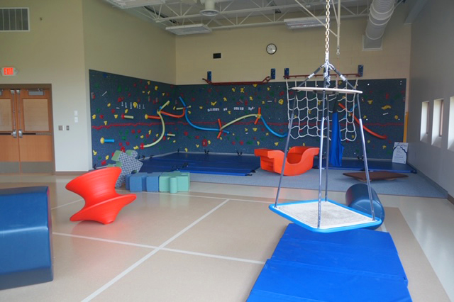 The indoor playground at Karner Blue Education Center.