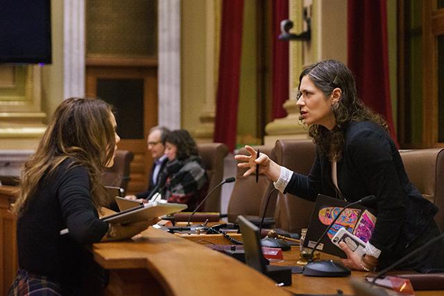 Jessica Lee, Minneapolis city council president Lisa Bender