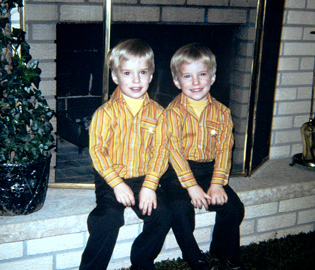Jay and Jeff Weiss shown in a childhood photograph.