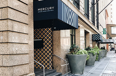 Mercury in downtown Minneapolis