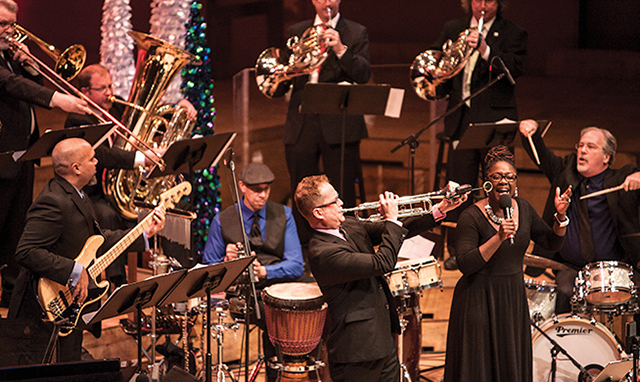 Minnesota Orchestra trumpeter Charles Lazarus puts on his jazz hat and gathers his jazz ensembles for his big, brassy Christmas concert.