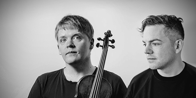 Finnish violinist/conductor Pekka Kuusisto and American composer/pianist Nico Muhly