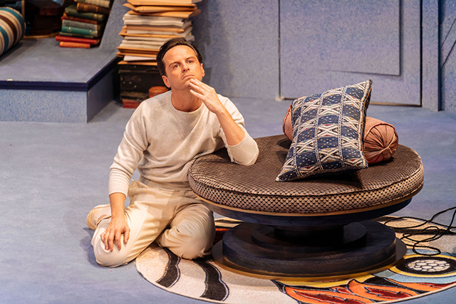 "Andrew Scott in a scene from ""Present Laughter."""