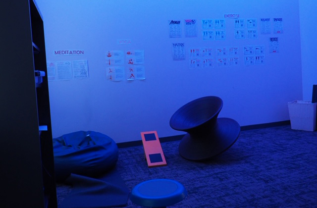 The sensory room at Quora High School.