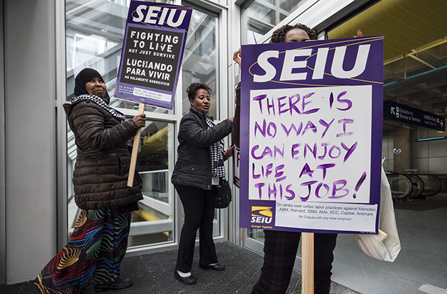 SEIU strikers