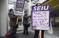 SEIU strikers