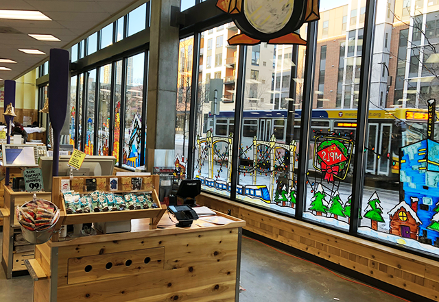 Window regulations made the new Trader Joe's store on Washington Avenue in Minneapolis more transparent.