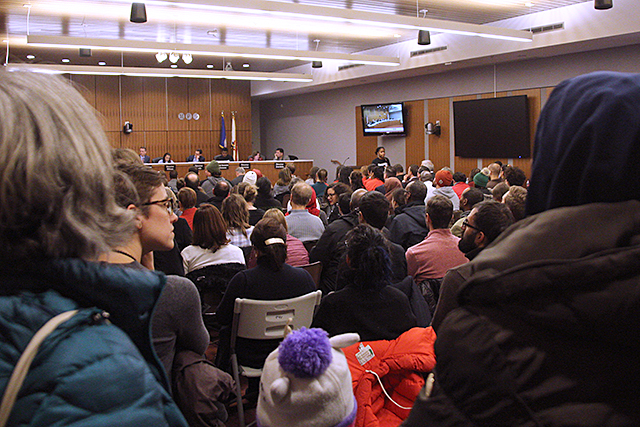 Parents and students from two south-side Minneapolis schools filled the school board meeting room Tuesday evening.