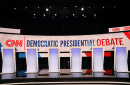 Democratic 2020 presidential debate stage at Drake University