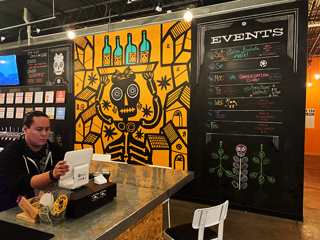 The brewpub acts as an event space for yoga, Spanish classes, dance classes, and more.