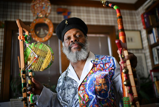 Multi-instrumentalist Douglas R. Ewart will be interview Friday afternoon at the East Side Freedom Library.