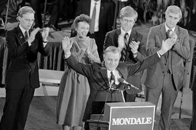 Mondale 1984 Iowa Caucus win
