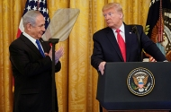 Israel's Prime Minister Benjamin Netanyahu, President Donald Trump