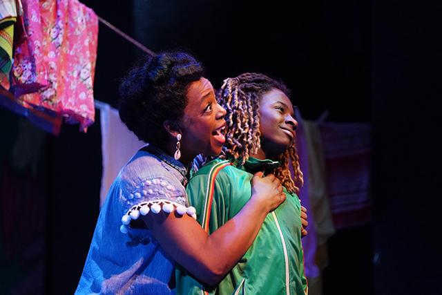 """Lynnea Doublette and Ellis M. Dossavi Alipoeh in """"Bob Marley's Three Little Birds."""""""