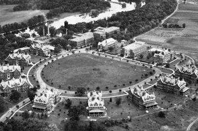 aerial photo of anoka hospital