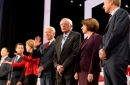photo of democratic presidential candidates on debate stage