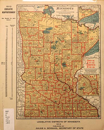 A 1913 Legislative district map