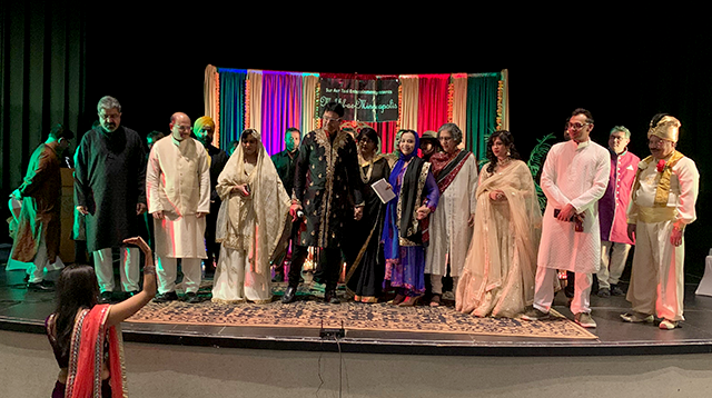 Event co-organizer Gauri Shah gave last-minute instructions to the poets gathered for Mehfil-ae-Minneapolis at the Chaska Community Center on Feb. 21.