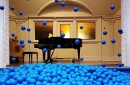 The ball pit in the ballroom of the Turnblad Mansion