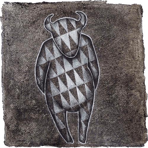 Dyani White Hawk, Untitled, 2014, Charcoal on paper