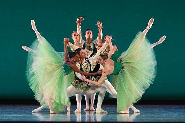 "Artists of Ballet West in ""Emeralds."""