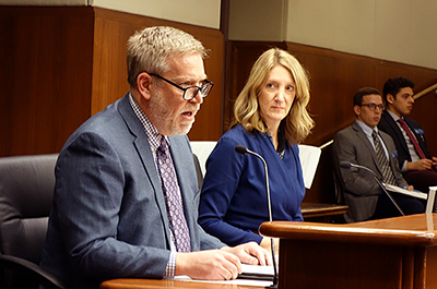 Mark Haveman, the executive director of the Minnesota Center for Fiscal Excellence, and Rep. Jennifer Schultz