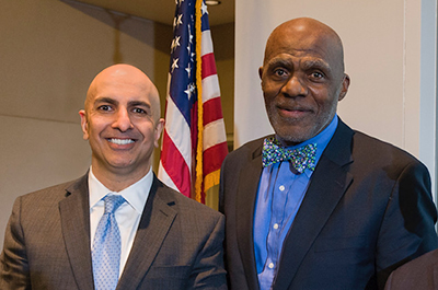 Minneapolis Fed president Neel Kashkari and former Supreme Court Justice Alan Page