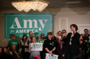 Amy Klobuchar speaks in Cedar Rapids