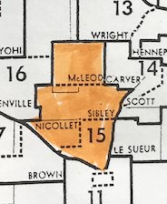 A Legislative manual from 1967-68 shows districts 15A, 15B and 15C.